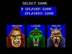 Rampage - Sega - Rampage was by far my favorite video game grown up.  I had tons of fun playing it.  I would pretty much always go Ralph, dunno why.