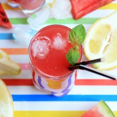 Watermelon Lemonade- how to cool down when the heat is on! (scroll down for English version)