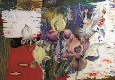 Irina Kazimirova. Red irises. 2009 Silk, hot batik