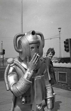 Electric corporation actually made a smoking robot in the 1930s -not pictured here- his name was Elektro. How  cool