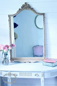 By Trios Petites Filles Step by Step Tutorial On Creating A Faux Gilded Antique French Mirror http://triospetitesfilles.blogspot.com
