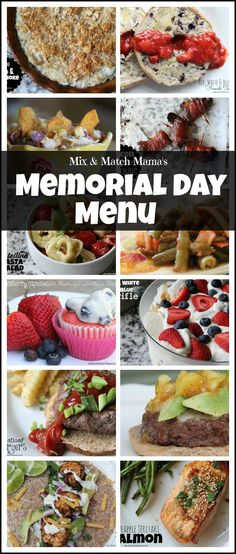 memorial day burger menu