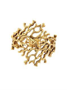 Oscar de la Renta Coral-branch bracelet