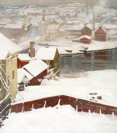 File:Albert Edelfelt-Den första snön.jpeg