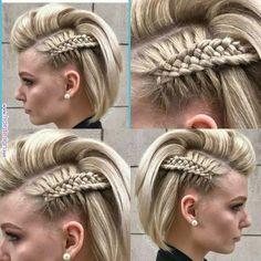 Frick'n awesome braid! diy hairstyles shorthair Frick'n awesome braid! Cool Braids, Braids For Short Hair, Cute Hairstyles For Short Hair, Amazing Braids, Braid Hair, Long Hair, Side Braids, Beautiful Braids, Long Curly