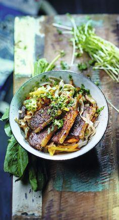 #Recette #Nouilles sautées aux légumes asiatiques et canard