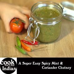 Easy and Spicy Mint and Coriander Chutney Great British Chefs, Coriander, Chutney, Cucumber, Vegetarian Recipes, Spicy, Mint, Cooking, Healthy