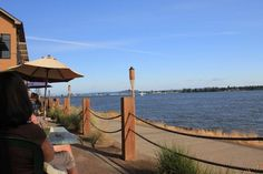 Columbia River - the view from Beaches Restaurant in Vancouver, Washington.