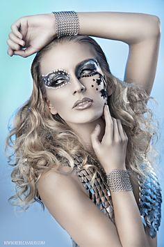 * beautiful-photography-by-rebeca-saray-gude * Girls Makeup, Glam Makeup, Silver Makeup, Makeup Art, Eye Makeup, Artistic Fashion Photography, Portrait Photography, Beauty Photography, Fashion Shoot