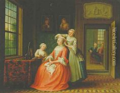 A lady at her toilet in an interior 1762 oil painting by Abraham Hendrick van Beesten, The highest quality oil painting reproductions and great customer service! Most Famous Paintings, Disney Images, Putting On Makeup, Oil Painting Reproductions, Historical Clothing, Fashion Plates, Fashion Prints, 18th Century, Art Gallery