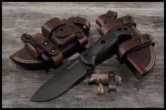 Products - Hedgehog Leatherworks. Built specifically to fit the Becker BK-2 Knife from Ka-Bar Knives