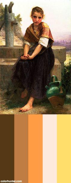 Bouguereau,+Le+Pichet+Cassé,+1891+Color+Scheme