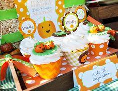 VERY cute toddler pumpkin birthday party