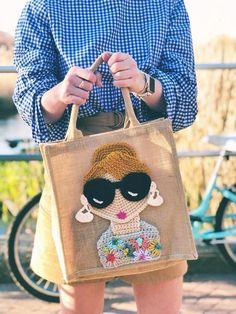 Crochet Tote, Crochet Purses, Cute Crochet, Jute Tote Bags, Burlap Bags, Cloth Bags, Handmade Bags, Crochet Projects, Creations