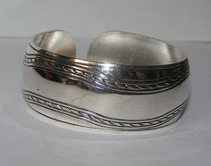 Tibet Silver Smooth Cuff Bracelet Free Shipping NO FEES $15.00