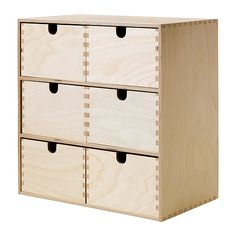 MOPPE Mini storage chest IKEA Untreated wood; can be treated with oil or glazing paint for a personal touch and a more durable surface.