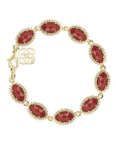 Perfect bracelet to layer with all the school colors!  Jana Bracelet in Dark Red - Kendra Scott Jewelry.