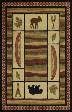 Dalyn Expedition Rug EP4 - The Dalyn Expedition collection offers a variety of exceptional design. From cowboys, moose and bears to bulls, fish and horses; you can find it all here. From our collection of Southwestern Rugs, these carpets are machine-made in the United States. A muted color palette that will cooperate with a variety of interiors. Compliment your southwestern decor today!