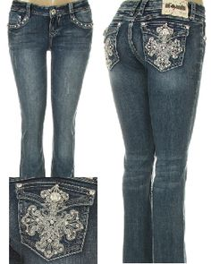 It's A Cowgirl Thing Boutique Hot Outfits, Jean Outfits, Casual Outfits, Trending Jeans, Laid Back Style, My Style, Pant Shirt, Pants, Bling Jeans