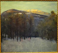 Abbott Handerson Thayer - Mount Monadnock, 1913 at Corcoran Art Gallery Washington DC Nocturne, Canadian Artists, American Artists, National Gallery Of Art, Art Gallery, Abstract Landscape, Landscape Paintings, Seascape Paintings, Winter Painting