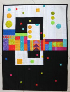 Geometric Quilt (photo only).  #quilts #quilting #modern_quilts