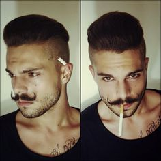「 Have a nice evening guys #flashback #dontsmoke #moustache Check out @mensfashions !! 」