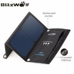 BlitzWolf <font><b>Solar</b></font> <font><b>Power</b></font> <font><b>Bank</b></font> Portable Dual USB Charger <font><b>Solar</b></font> <font><b>Panel</b></font> Mobile Phone Charger Universal For iPhone For Samsung Portable Usb Charger, Portable Solar Power, Solar Charger, Samsung, Solar Phone Chargers, Iphone, Solar Energy, Ipad Air, Gadgets