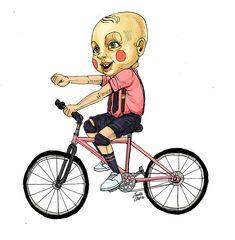 Bicicletos: una serie de ilustraciones que muestran la gran diversidad de pintas y estilos de la gente que rueda en bicicleta por la capital Colombiana