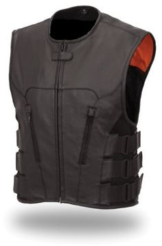 Men's Updated Bullet Proof Style Swat Vest Single Panel Back & Wide Arm Holes Perfect for Clubs Patches (Small)