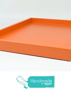 Decorative Tray Orange Matte Lacquer 18 in. by 14 in. Shallow Low-profile Tray from Gleaming Renditions http://www.amazon.com/dp/B016SC5ENQ/ref=hnd_sw_r_pi_dp_k512wb0HDNQTH #handmadeatamazon