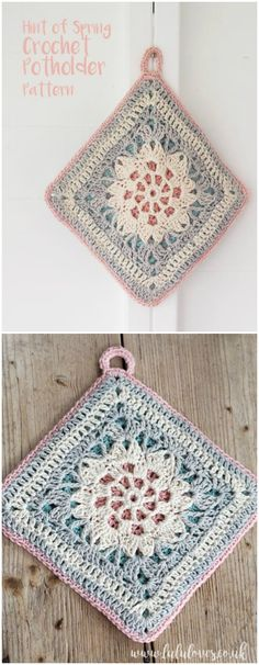 I have rounded up some of the best and gorgeous crochet patterns for your inspiration.Crochet Pattern - Hint Of Spring Potholder