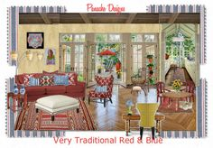 """""""Very Traditional Red & Blue"""" by Panache Designs, Bobbi Moore"""