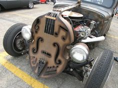 If that is a functioning bass, this wins the coolest thing ever award.
