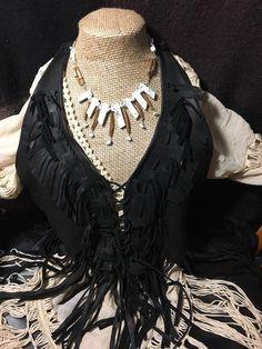 Handmade Tribal Genuine Magnesite Stone Leather bib collar Necklace jewelry #Handmade #Bib