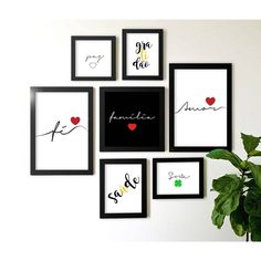 Foto 1 - Composição Kit de 7 quadros Decorativos Amor Fé Família Bedroom Wall, Bedroom Decor, Wall Decor, Home Design Software, Do It Yourself Home, Living Furniture, Inspired Homes, New Room, Decoration