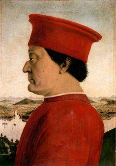 """Piero della Francesca, """"Ritratto di Federico da Montefeltro, Duca di Urbino"""", 1465-66."""