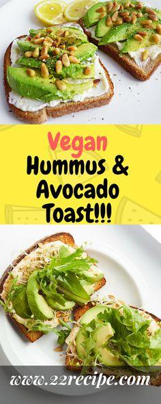 Vegan Hummus & Avocado Toast!!! - 22 Recipe