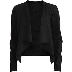 Vila Brige - Blazer Pu-Jacket ($44) ❤ liked on Polyvore featuring outerwear, jackets, blazers, tops, casacos, black, pu jacket, vila, black jacket and polyurethane jacket
