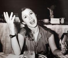 Carrie Fisher (Princess Leia in Star Wars)