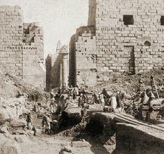 Karnak escavations 1890s Egypt