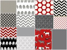 minus the random animal print that i believe has a skunk on it... this very well may be my boys nursery colors... plus a hint of yellow