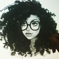 Quick #photoshop #sketchdook #digitalportrait #portrait #girlwithglasses #curlyhair #instaart #instaartist .. tonites #dook ... keep on keepin on!