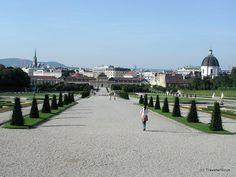 Belvedere Gardens in Vienna, Austria