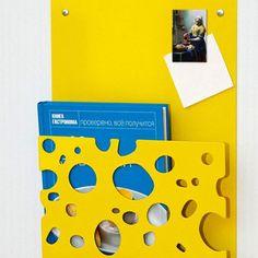 Decorative rack shelf for magazines or books Swiss Cheese