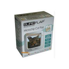 SUREFLAP Katzenklappe Mikrochip bzw. Tierchip gesteuert weiß