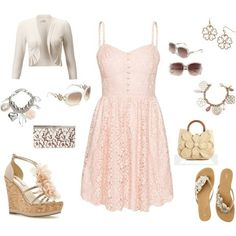 Cute spring/Summer dress, withh accessories
