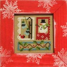 Winter Bits December 2011 Frameup Kit includes the hand painted frame, 16 Ct Aida, DMC floss, tapestry needle, color photograph and instruct...