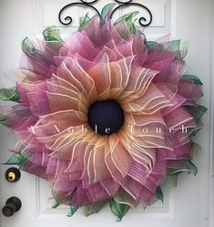 A Noble Touch flower wreath tutorial. Step by step instructions for this beautiful flower. DIY. Spring flower wreath.