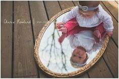 6 month old, 6 month poses, baby and mirror, baby girl photo ideas, St. Louis baby photographer, Charis Rowland Photography