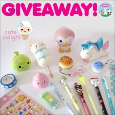 Cute Delight Kawaii Stationery and Squishies Giveaway